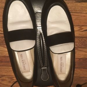 Jones New York B&W Leather Loafers 7.5